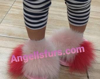 New!Real FOX Fur GIRL SLIDES!