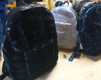 REAL MINK BACKPACKS in Any color!New and Natural,Real Fur Bag!