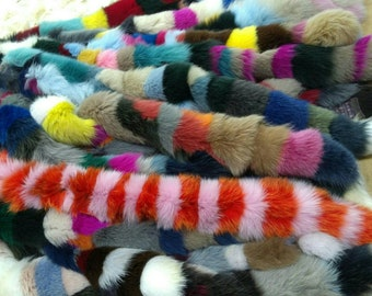 Part 2. New!!!Natural Real MULTICOLOR FOX TRIMS! Color your everyday moments!