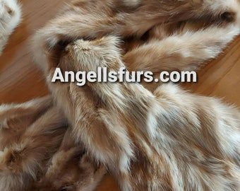 New Natural Real Beautiful super soft SABLE Fur Scarf!UNISEX!