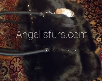 New!Natural,Real Amazing EXTRA LARGE FOX Fur Bag!