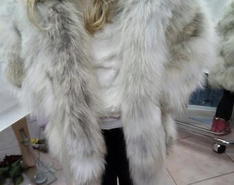 KID'S Natural Real Hooded Fox Fur!!!
