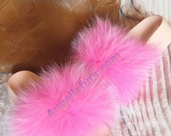 New Real Beautiful FOX Fur FLATFORMS! ORDER Any color!