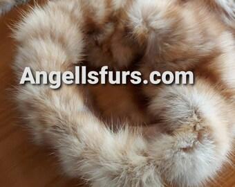 New!Natural Real SABLE fur  Headband!UNISEX!