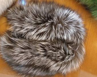 New!Natural Real WIDER Silver fur  Headband!