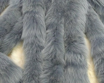 New!!!Natural Real Light Blue Fox TRIMS!