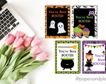 """DIGITAL FILE - Halloween """"You've Been Boo'ed"""" Gift Tags - Pack of 4 
