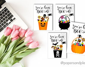 """DIGITAL FILE - Halloween """"You've Been Boo'ed"""" Gift Tags Pack of 4 