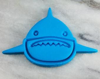 Outline /& Stamp #1 Shark Week Beach Ocean Shark Face Cookie Cutter 2-Piece