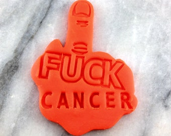 ALL PROCEEDS to CHARITY Fuck Cancer Cookie Cutter - Choose Your Own Size - Fast Shipping!