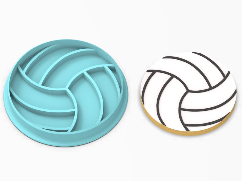 Volleyball Cookie Cutter  SHARP EDGES  FAST Shipping  image 0
