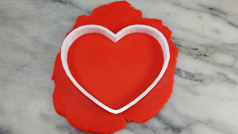 Choose Your Own Size! Heart w Mini Dog Paws Cookie Cutter 2-Piece Stamp /& Outline #1 SHARP EDGES FAST Shipping