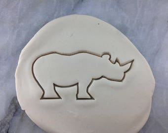 Rhino Cookie Cutter Outline #1- SHARP EDGES - FAST Shipping - Choose Your Own Size!