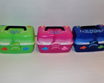 Free Shipping Name Personalized Lime Green  Smoke Plano Tackle Box New Fall 2020