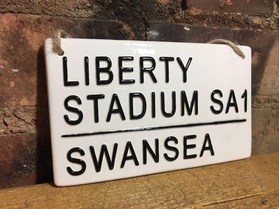 Swansea City fc Liberty Stadium Metal Street Sign 2 Sizes Available football