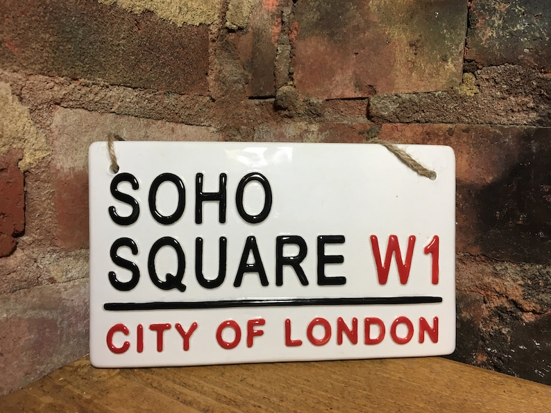 SOHO SQUARE London Street Sign City Of Wall Art