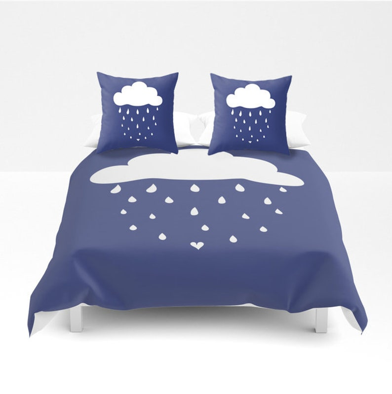 Funda Nordica Lluvia.Funda Nordica Nube Color Personalizado Twin Doble Queen King Gotas Lluvia Regalo Original Mujer Ninos Habitacion Dormitorio Apartamento