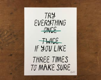 Try Everything Print