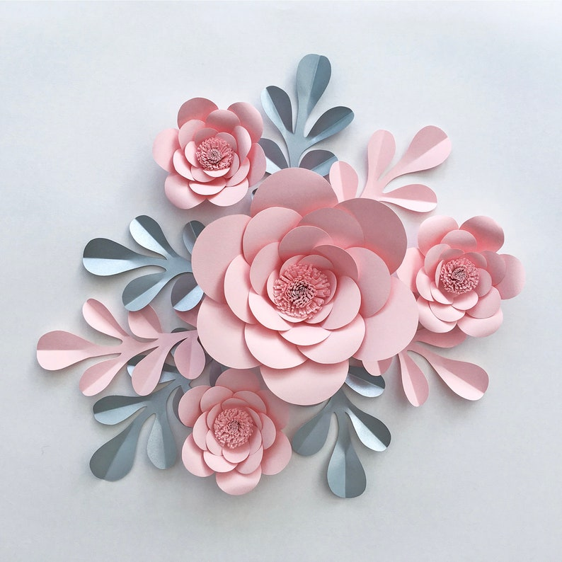 Small Paper Flower Display Paper Flowers Paper Flowers Wall Decor Paper Flower Backdrop Paper Flower Decoration Paper Flowers Wall