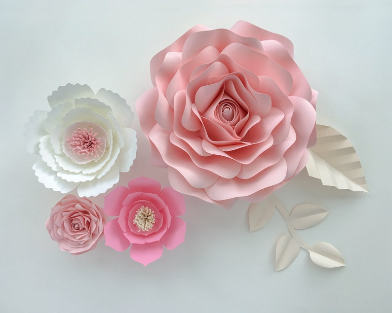 Paper Flowers Small Paper Flower Display Paper Flowers Wall Decor Paper Flower Backdrop Paper Flower Decoration Paper Roses