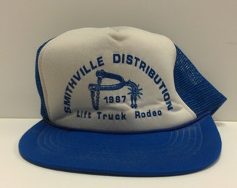 Vintage Smithville Dist. 87 Lift Truck Rodeo Snapback RARE with Mesh Back  Hat 2659a754b717