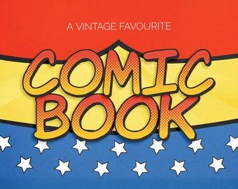 Comic Book Superhero clipart alphabet: scrapbooking alpha, digital alphabet (jes0015)