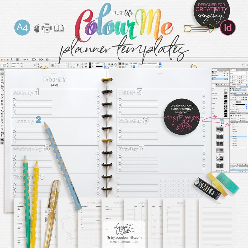 image about Diy Planner Templates referred to as A4 InDesign Do-it-yourself Planner Templates : Industrial Hire, Editable, Electronic Down load - inc PDF Effortless Start off Direct (jes0608)