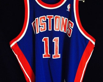b1c5909d297 Isiah Thomas Detriot Pistons Motchell and Ness NBA Basketball Jersey