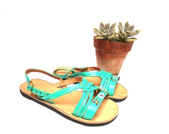 leather huaraches, vintage mexican huaraches, leather sandals,handmade  shoes, boho sandals, hippie sandals,
