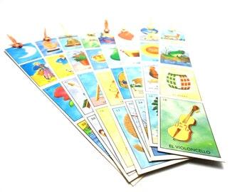 bookmarks, set of 3 loteria bookmarks, loteria bookmarks, mexican bingo bookmark, loteria, bookmark sets
