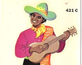 Vintage Duro Decal Retro Mexican Man Folk Southwestern Spanish Latino 421C