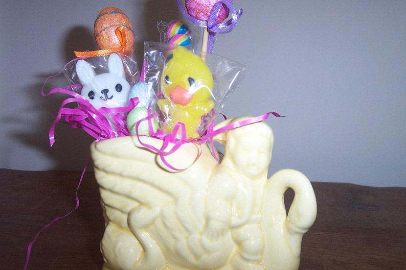 Boy or Elf Riding Yellow Swan Figurial Planter or Centerpiece display holder Ceramic Swan McCoy