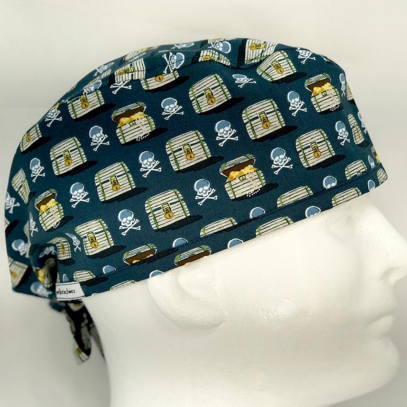 5e4232035046e Pirate Chest Mens Surgical Cap surgeon s hat scrub caps