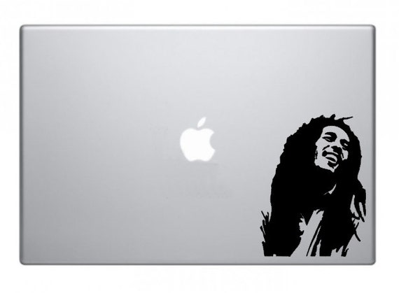 Bob marley rasta reggae macbook decal macbook sticker mac