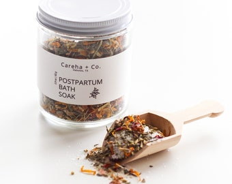 Postpartum Herbal Bath Soak - After Birth Care Sitz Bath - Perineal Tearing Episiotomy - Herbal Remedy - New Mom Baby Shower Gift Idea