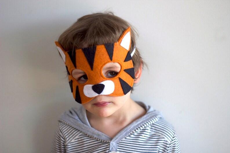 Tiger  Felt Dress up Mask / Animal Costume image 0