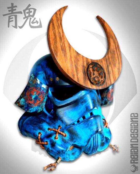 Blue Demon Samuraitrooper Helmet Custom Star Wars Samurai 11 Etsy