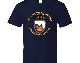 Army - 18th Airborne Division - Phantom - Wwii - T Shirt