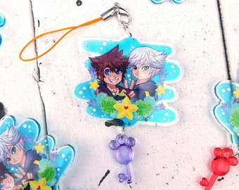 DISCOUNTED Sora and Riku Kingdom Hearts charm, acrylic charm, soriku