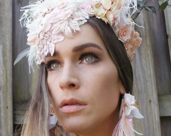 French lace blossom fascinator