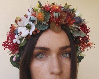 Large native floral crown