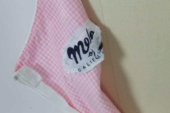 1950s Pink Gingham Cotton Dress | Large - image 10