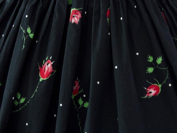 1950s Crisp Rose Print Dress | XS - image 9