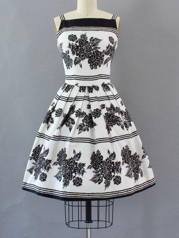 Black & White Cotton Sundress | Small