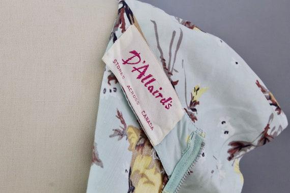 1950s Rose Print Dress | Small - image 9