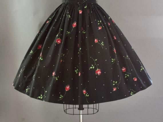 1950s Crisp Rose Print Dress | XS - image 6