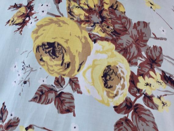 1950s Rose Print Dress | Small - image 10