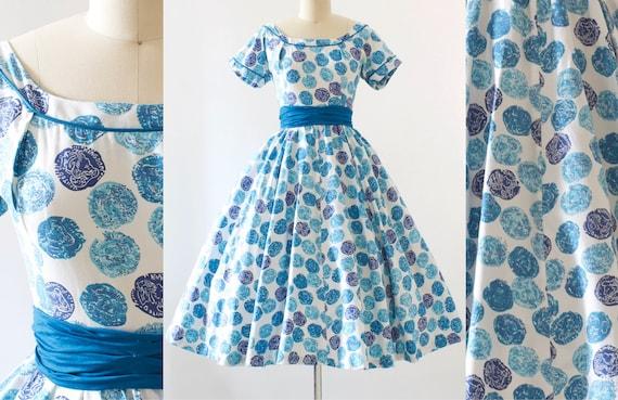 Coin Print Cotton Dress | Small