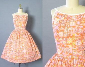 1950s Floral Sundress/ Medium (36B/27W)