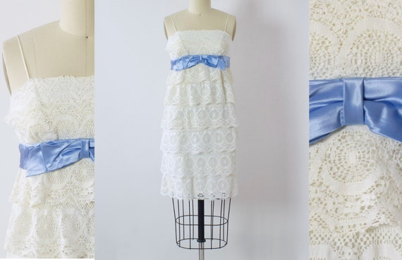 1960s Lace Babydoll Dress | Small